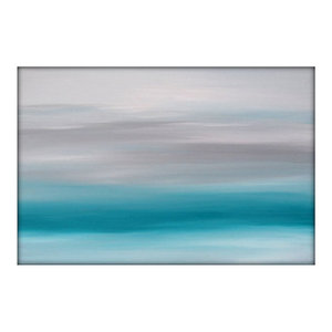 Abstract Seascape Landscape Original Acrylic Modern Painting on Canvas 36x48