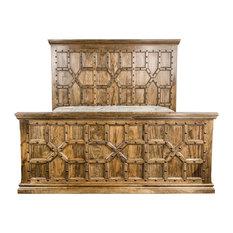 Trendily Home Collection - Hamlet King Bed, Cranberry - Platform Beds