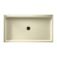 Swan   Swan 32x60x5.5 Veritek Shower Base, Bone   Shower Pans And Bases