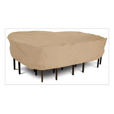 Classic Accessories Patio Table and Chair Set Cover, Large, Rectangle, Tan