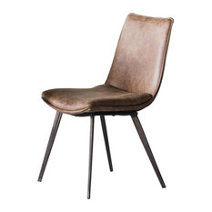 Hinks Retro-Chic Dining Chairs, Set of 2, Brown