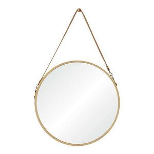 "Cupola 38.75"" Small Round Mirror Veneer"