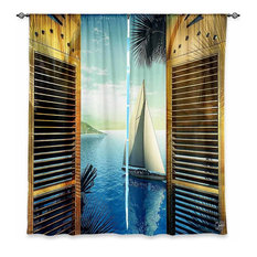 Superior DiaNoche Designs   DiaNoche Unlined Window Curtains By Mark Watts Set Sail    Curtains