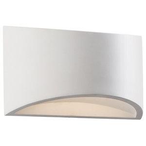 Toko Single LED Wall Light, White, 200 mm