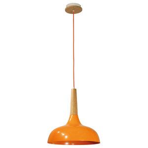 Cup Pendant Light, Orange