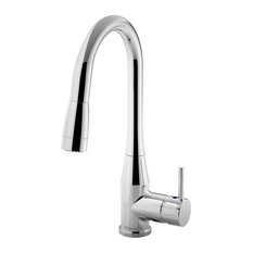 Symmons - Sereno Single Handle Pull-Down Kitchen Faucet, Chrome - Kitchen Faucets