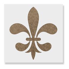"""Fleur De Lis Stencil for DIY Projects, 36""""x24"""""""