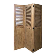 Vintage Casual Wood Room Divider
