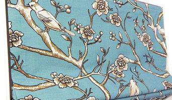 Custom Roman Shade - Vintage Blossom Jade