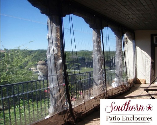 residential Clear Vinyl Patio Enclosure curtains by Southern Patio