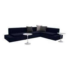 Dume Modern Sectional Sofa Made In Usa Navy