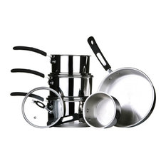 Premier Housewares - Tenzo S II Series Stainless Steel Cookware, Set of 5 - Cookware Sets