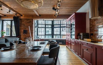 Проект недели: Кухня с «барной» атмосферой и кинотеатром