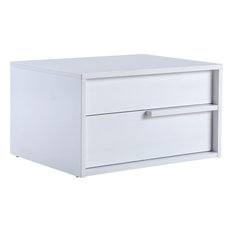 Dolce Nightstand High Gloss White Lacquer Right