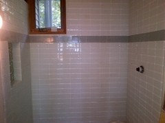 Staggered Vs Stacked Straight Tile In Small Bath