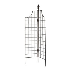2-Panel Garden Screen Trellis Weather Resistant Wrought Iron Large