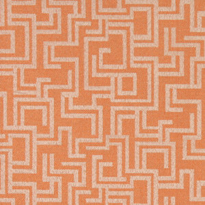 Orange Geometric Outdoor Indoor Marine Upholstery Fabric By The Yard
