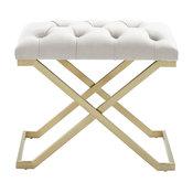 Rada Bench, Ivory/Gold