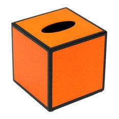 Orange and Black Lacquer Tissue Box