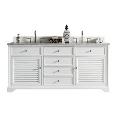 "Savannah 72"" Cottage White Double Vanity"