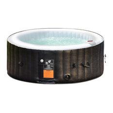 Goplus Portable Inflatable Massage Spa Hot Tub 4 Person Black