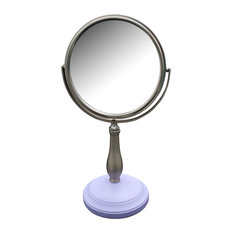 Lavender Purple Base and Pewy Pedestal Bathroom Makeup Mirror