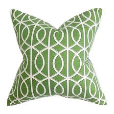 "Lior Geometric Pillow Green 18""x18"""
