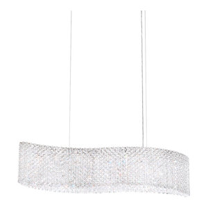 Refrax 13-Light Pendant in Stainless Steel With Clear Spectra Crystal