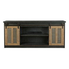 Universal Curated Merritt Entertainment Console Cobalt Black Finish