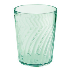 Tahiti Tumblers 9 oz. Drinking Glass, Set of 4, Jade