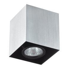 Ideal Lux Mood Small Square Spotlight, Aluminium