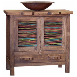 Lovely Rustic Bathroom Vanities And Sink Consoles by FoxDen Decor