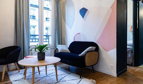 Avant/Après : À Paris, 20 m2 optimisés en deux-pièces coloré