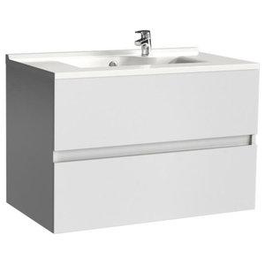 Rosaly Bathroom Vanity Unit, 80 cm, White Without Legs