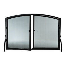 """50""""x33"""" Prime Operable Door Arched Fireplace Screen"""