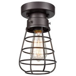 CLAXY - Retro industrial ceiling light fixtures loft Barn Cage - Cage design sends out a vintage industrial feeling. Simple, classic and traditional. It well protects the bulb and maximizes its light.