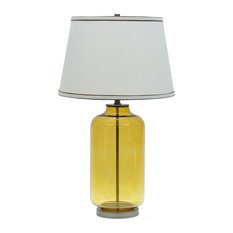 """40020, 26 1/2"""" High Modern Glass Table Lamp, Amber Colored Finish"""
