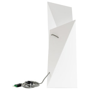 Geometric Steel Table Lamp, White