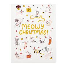Meowy Christmas Kitchen Towel Set of 2