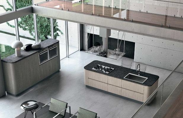 Consigli e soluzioni per scegliere il lavello della cucina - Cucina isola centrale ...