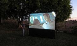 Outdoor movie screen and surround sound - Rancho Santa Fe