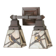 """12"""" Early Morning Visitors 2-Light Wall Sconce"""