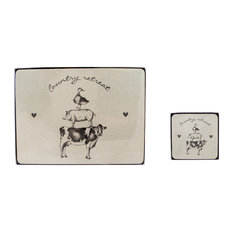 English Tableware Co. Country Retreat Placemats and Coasters, 4-Piece Set