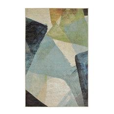Aurora Transparent Rhythm Rug, Blue, 7'6x10'
