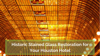 Historic Stained Glass Restoration for Your Houston Hotel