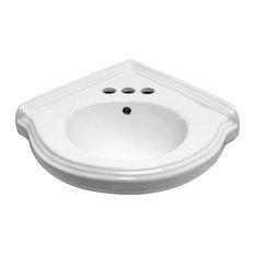 The Renovatoru0027s Supply Inc.   Corner Wall Mount Small Bathroom Sink White  Ceramic Vitreous China