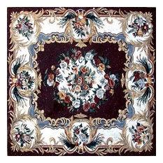 "Mozaico - Anthemion Floral Mosaic, Rayya, 61""x61"" - Tile Murals"
