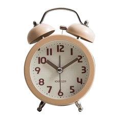 Twin Bell Alarm Clock Silent Backlight Battery Operated Loud Alarm Clock, J