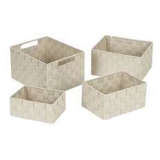 Hipp Hardware Plus 4-Piece Beige Storage Basket, 748113-BE