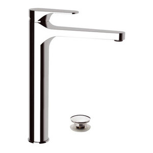Class Line Bathroom Sink Mixer, Click Clack Waste Plug Included, 30.60 cm
